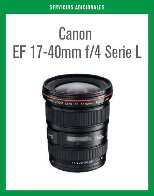 Objetivo Angular EF 17-40 f/4 Serie L en renta.