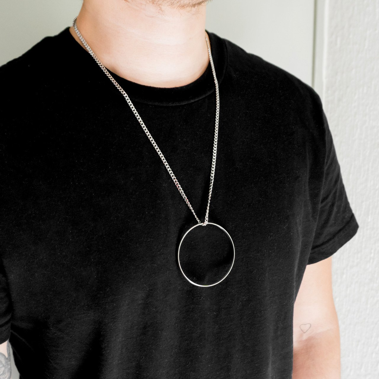 STEEL RING NECKLACE