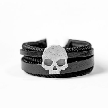 G SKULL BLACK LEATHER II
