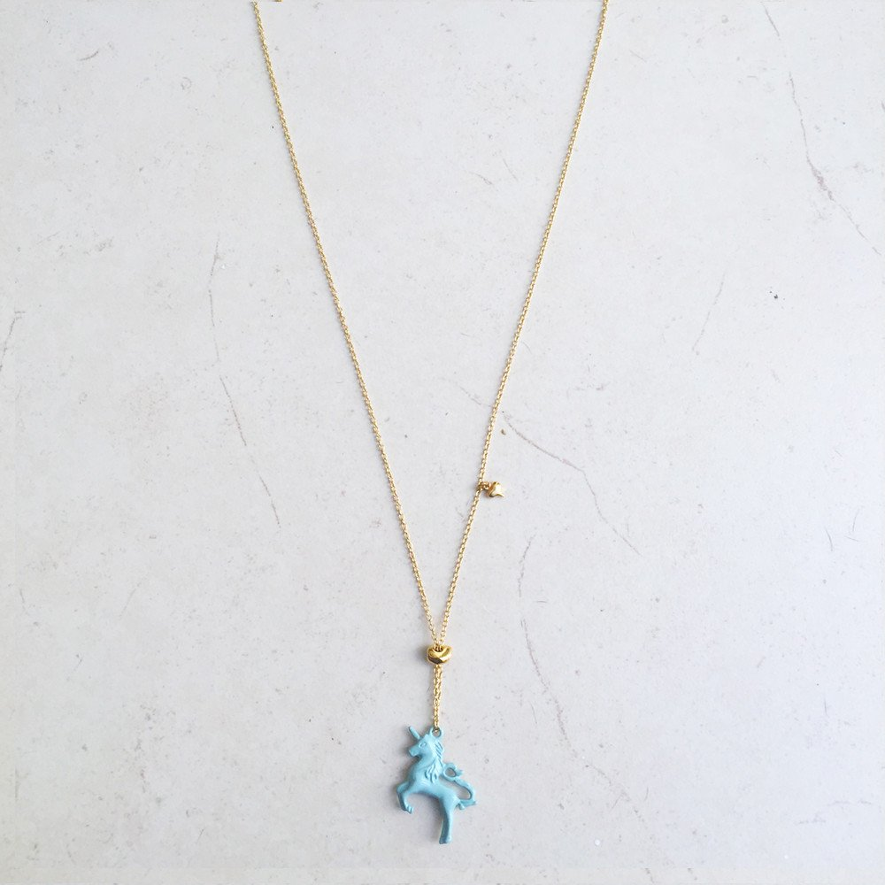 Collar Unicornio Azul