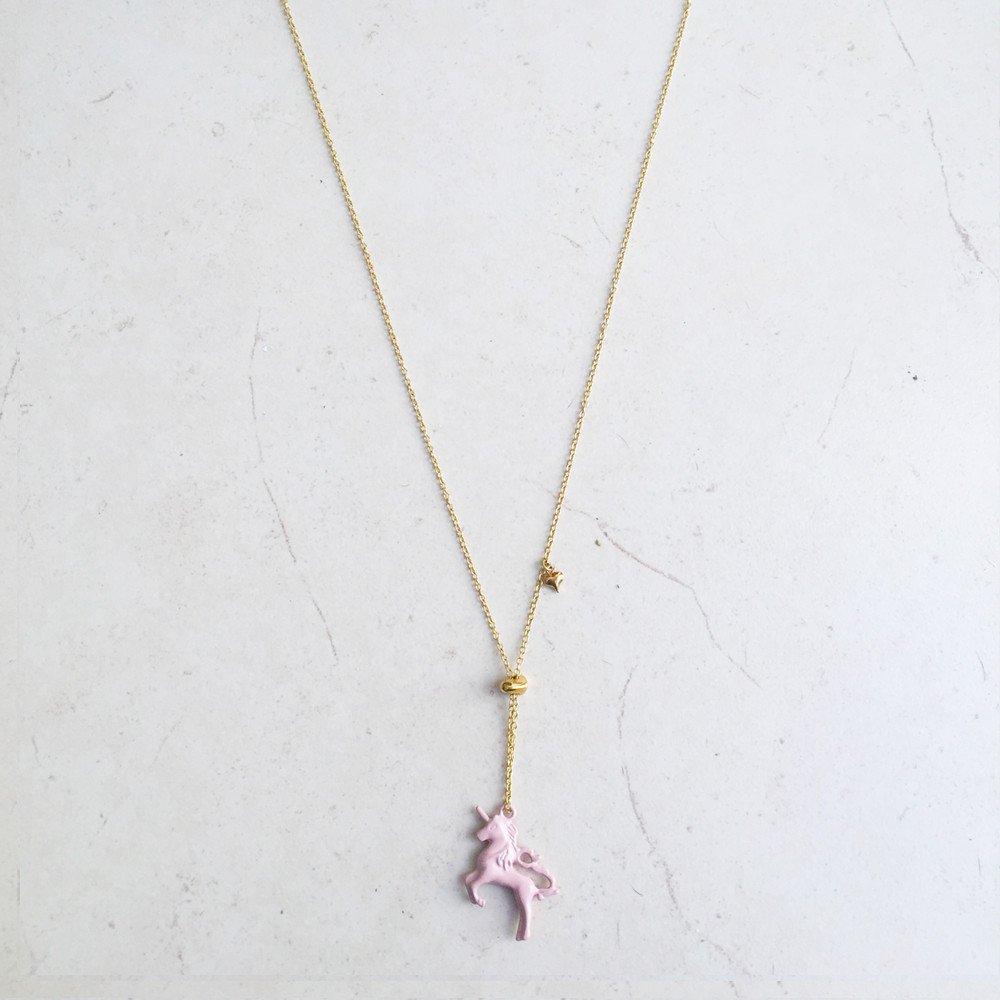 Collar Unicornio Rosa