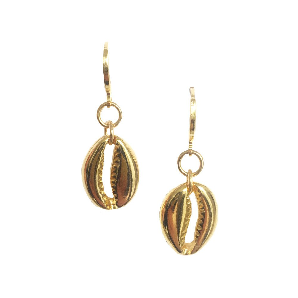 Aretes Shell Brillante