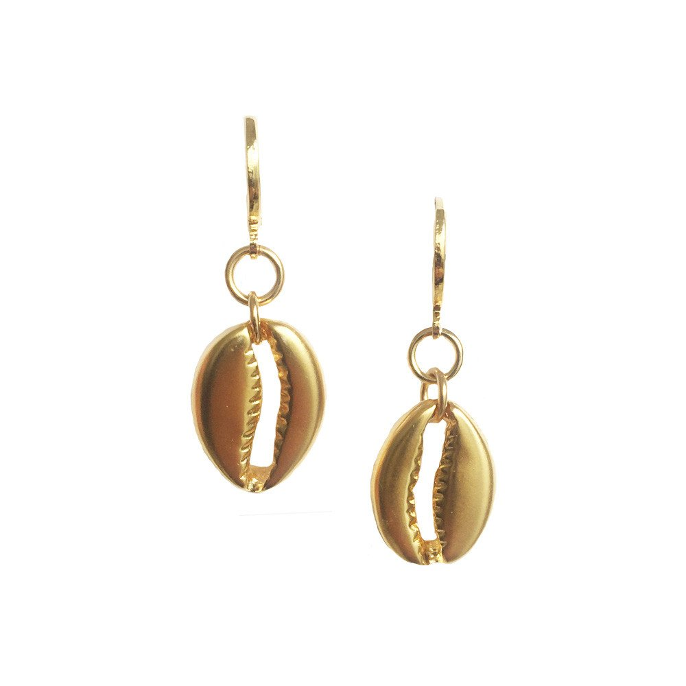 Aretes Shell Satinado