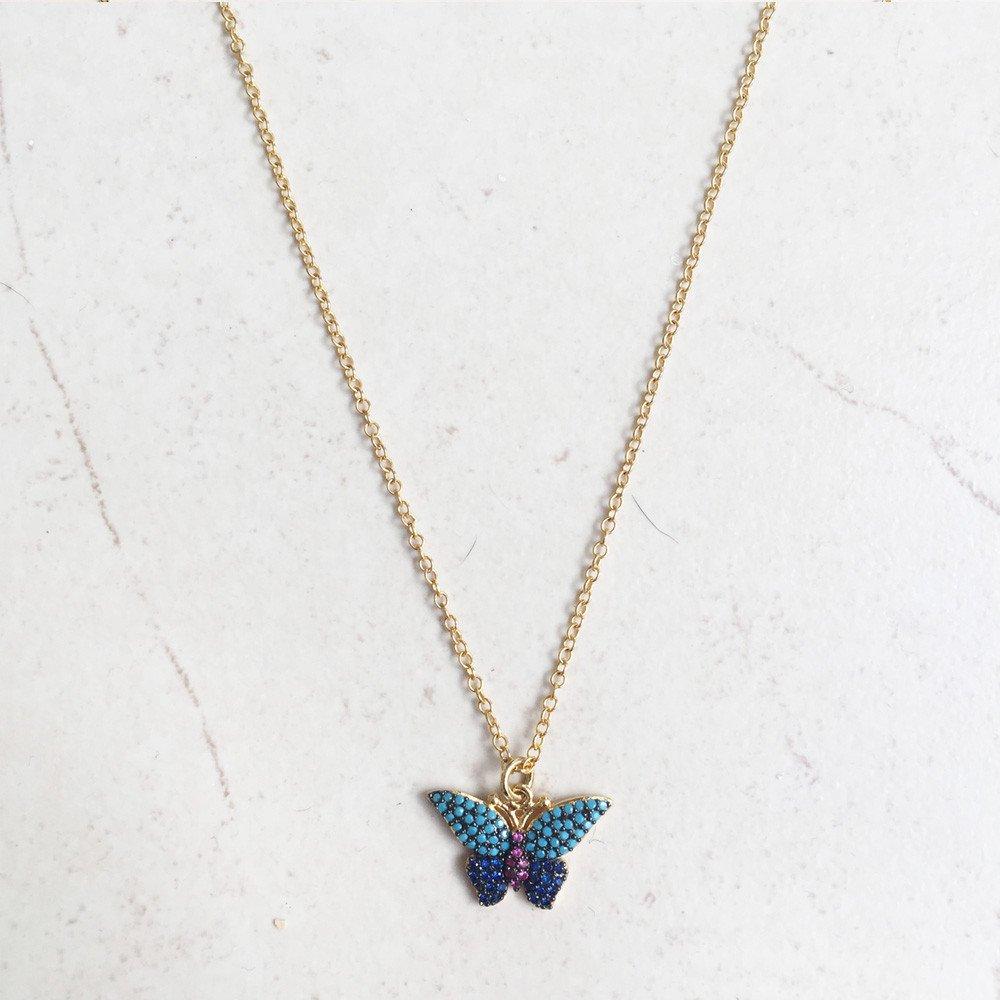 Collar Kate Mariposa Chapa Oro