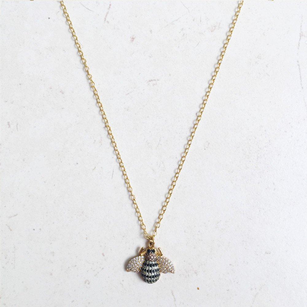 Collar Bea Abejorro Chapa Oro