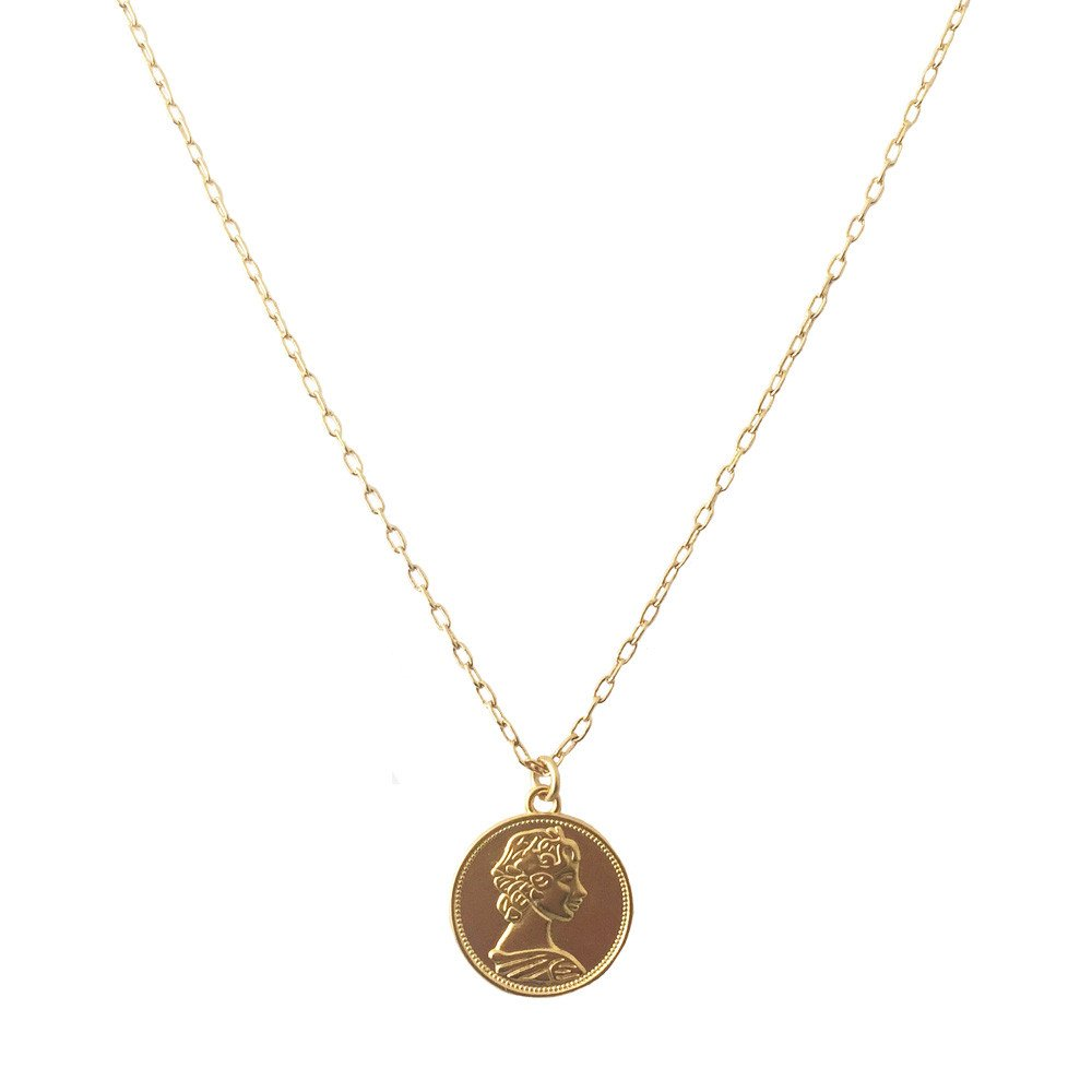 Collar Moneda Isabel Ch18k