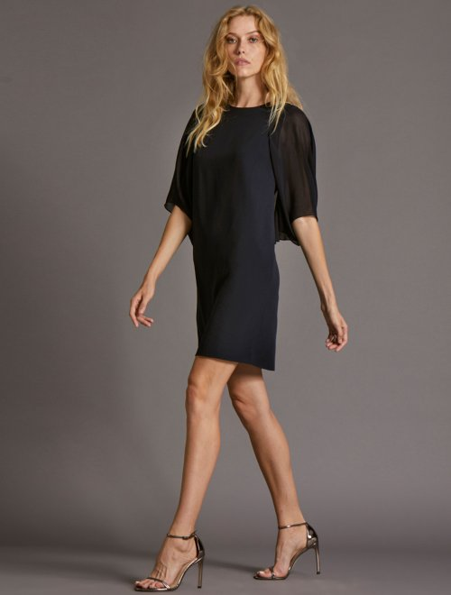 BLOUSON SLEEVE DRESS
