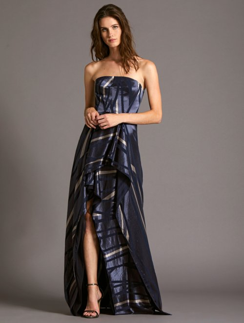 STRAPLESS BURNOUT GOWN