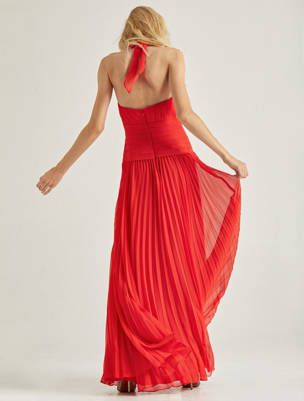 PLEATED GEORGETTE GOWN