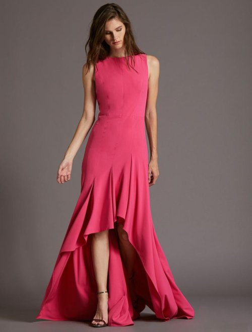BOATNECK CREPE GOWN