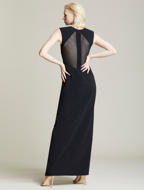 EMBROIDERED BACK GOWN
