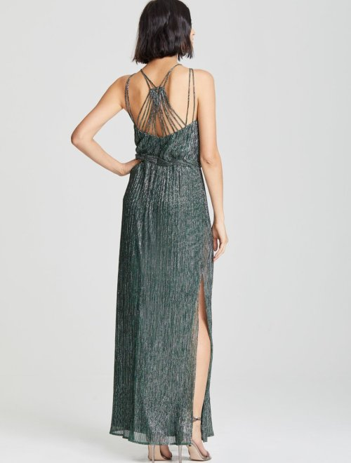 BRAIDED WAIST GOWN