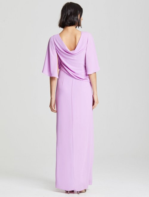 DRAPE BACK GOWN