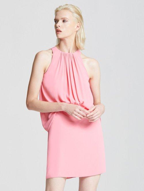 SHIRRED FRONT DRESS