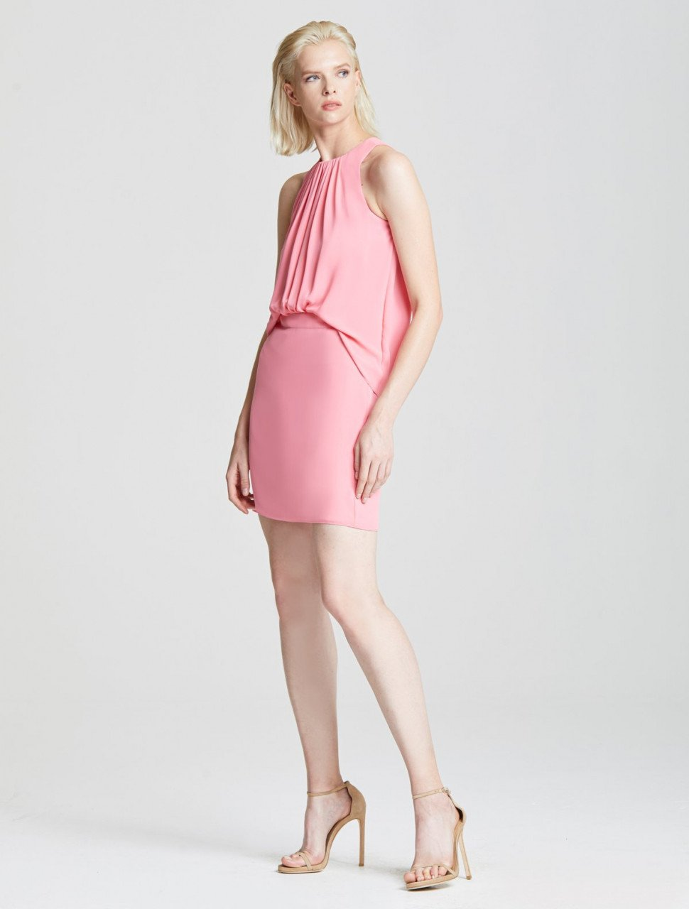 SHIRRED FRONT DRESS