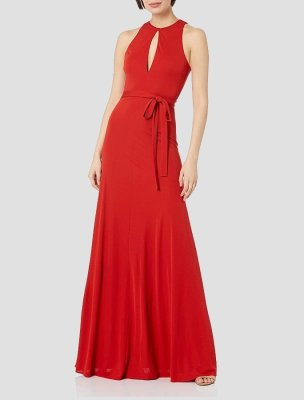 PAOLA HALTER JERSEY GOWN
