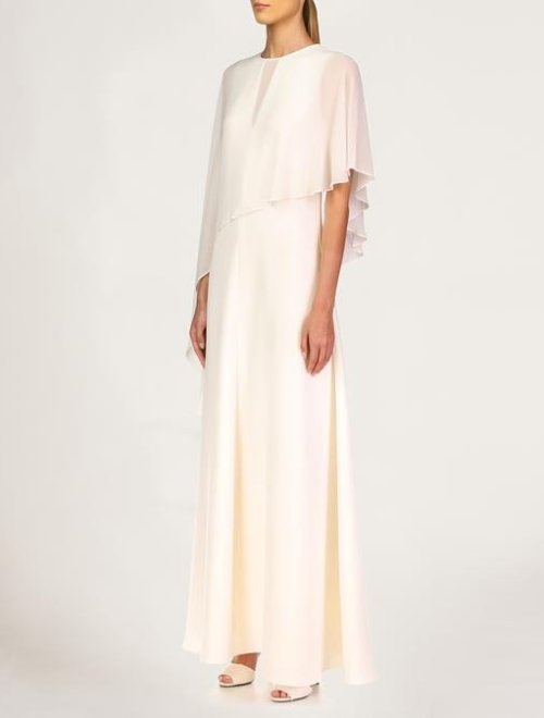 GINA DRAPED CAPE GOWN