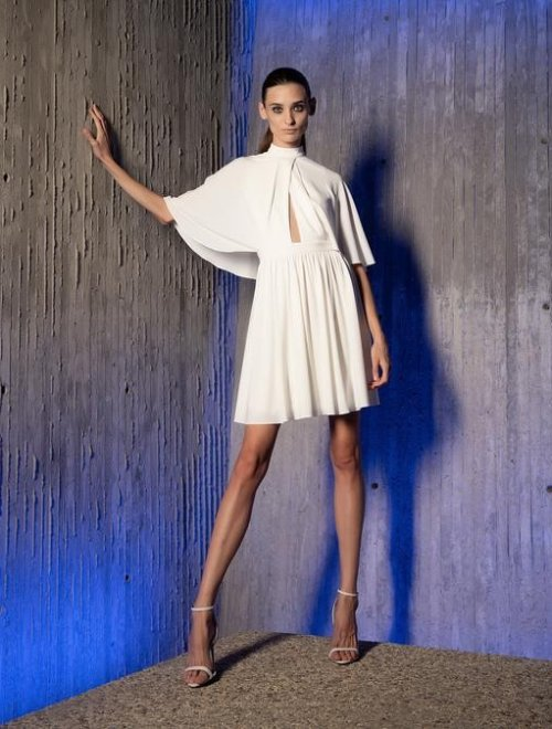 ALIDA CAPE DRESS