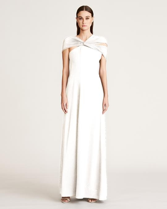 Eden Stretch Crepe Gown