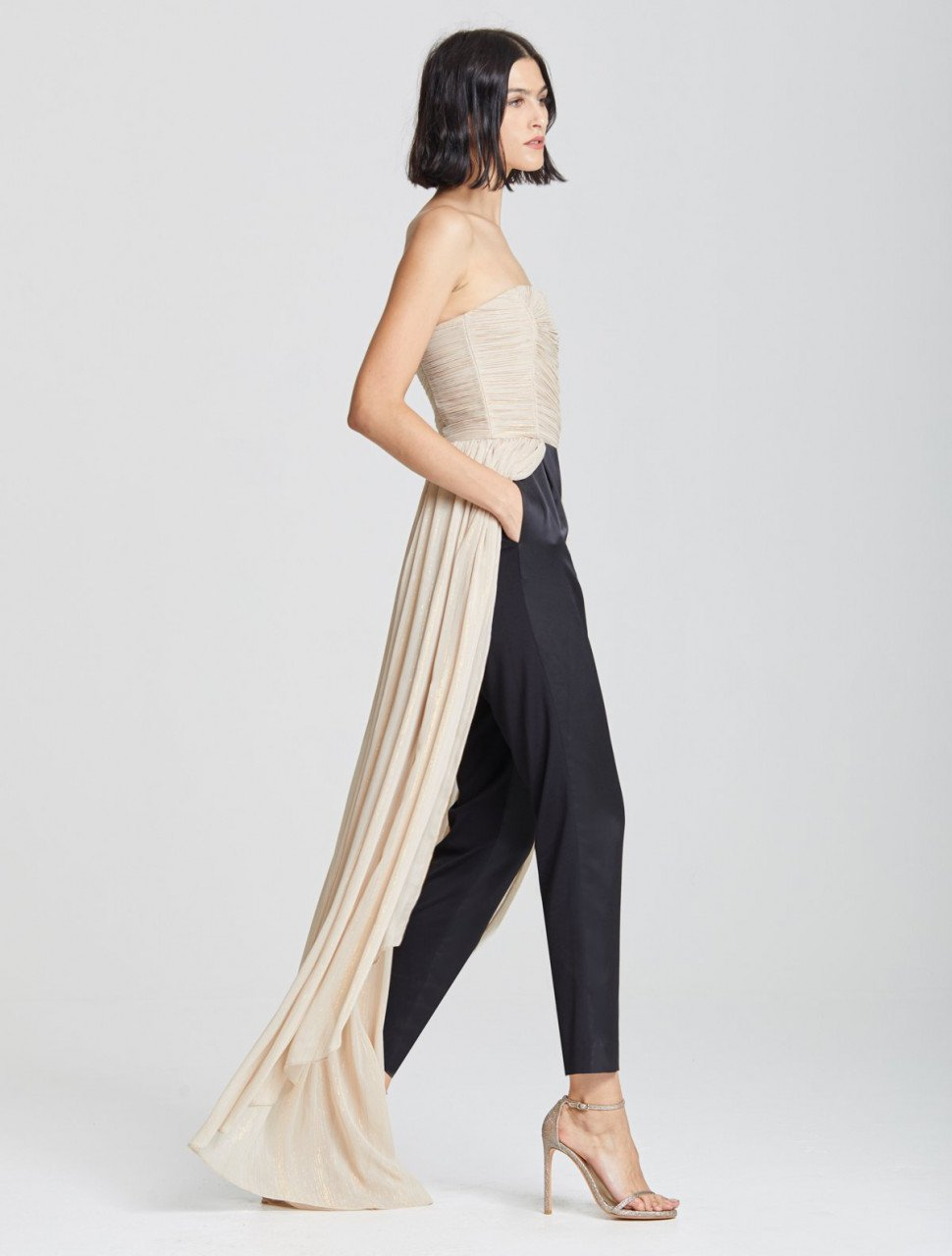 DRAMATIC PLEATED JUMPSUIT