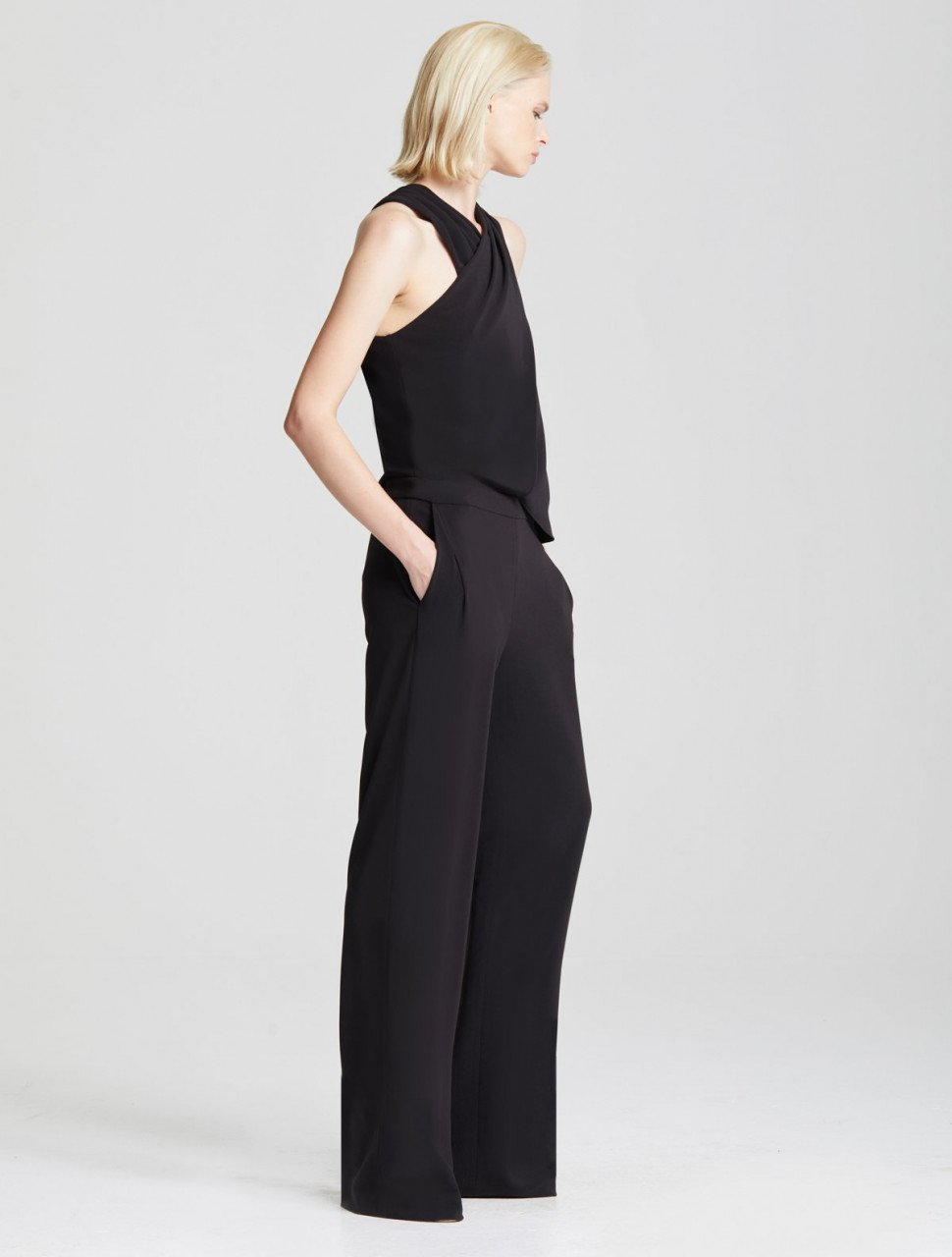 WRAP NECK JUMPSUIT
