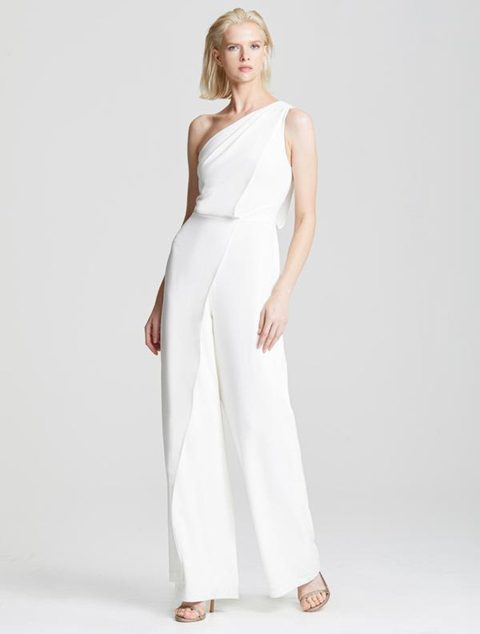 ASYMMETRIC DRAPED JUMPSUIT