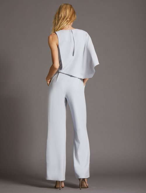 ASYMMETRIC CAPE JUMPSUIT
