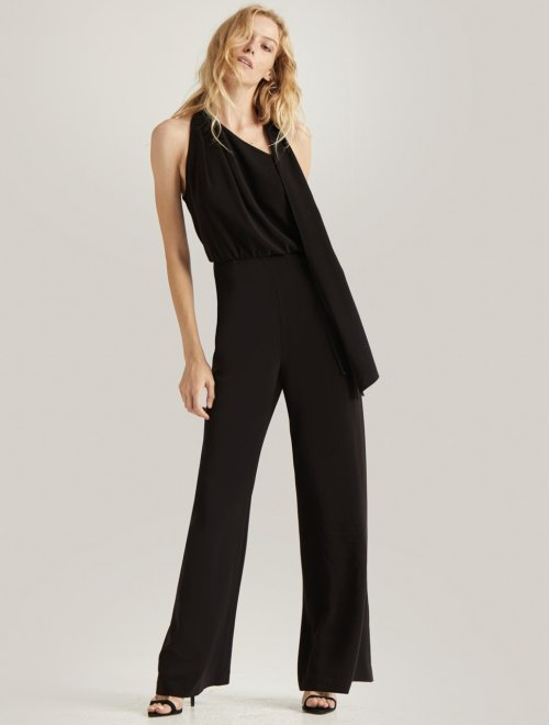 SCARF NECK JUMPSUIT