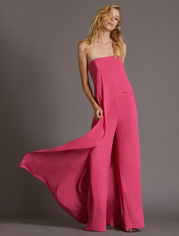 DRAPED OVERLAY JUMPSUIT