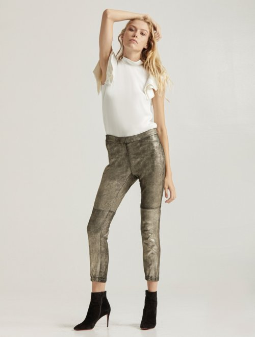 METALLIC SUEDE LEGGING