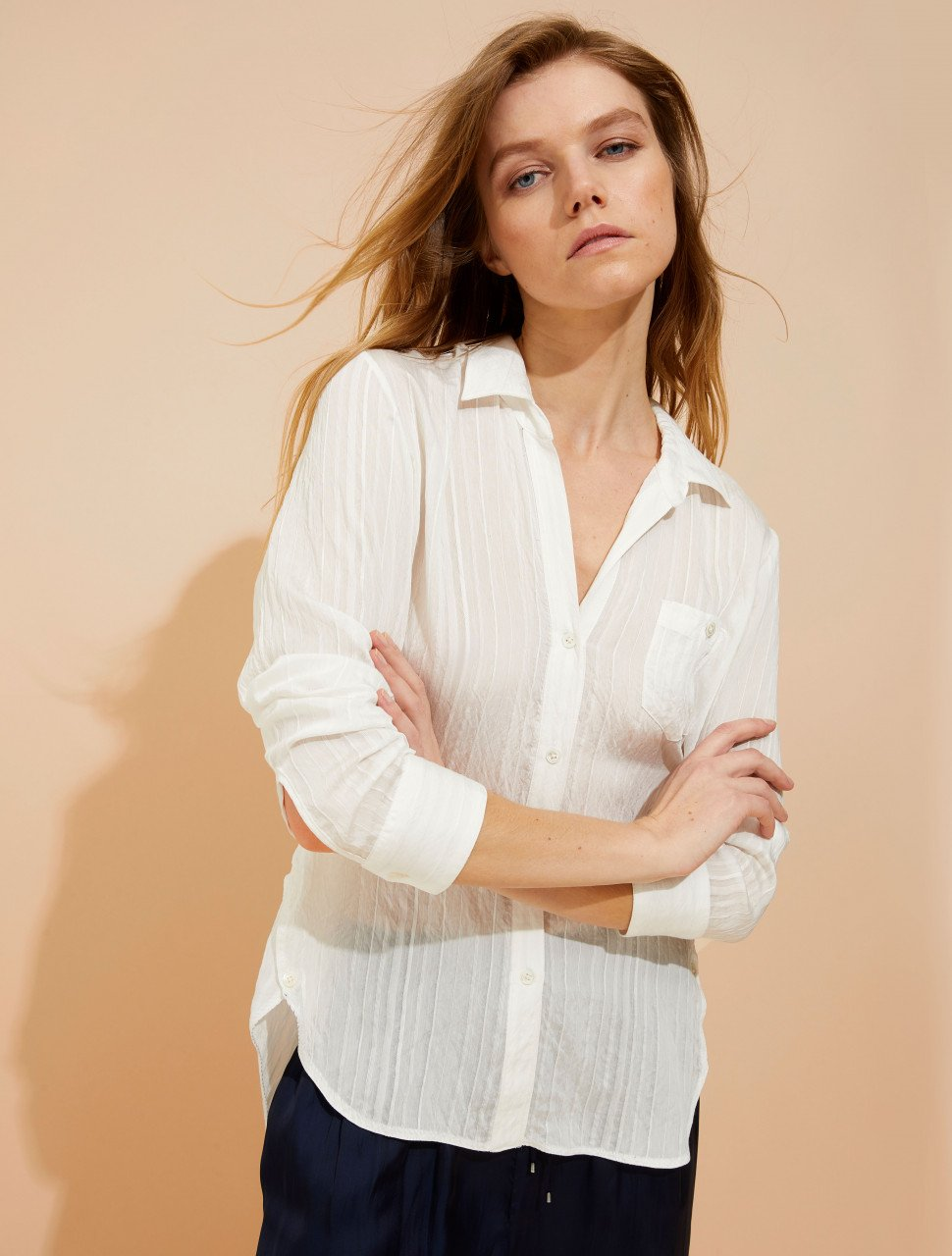 TEXTURED VOILE SHIRT