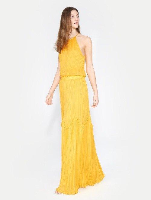 vestido flowy halter