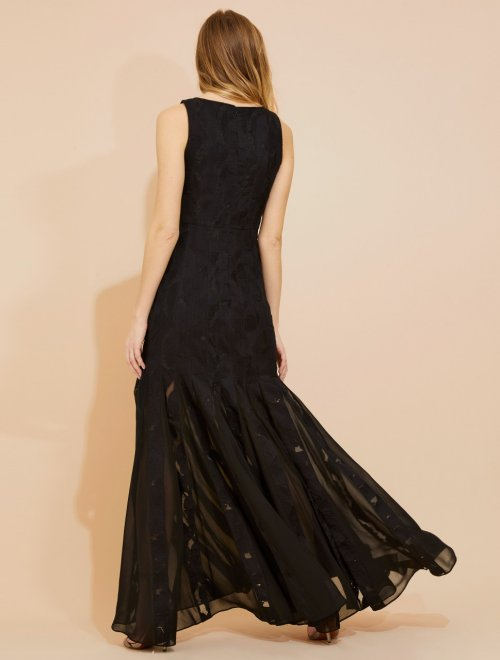 FLORAL ORGANZA JAQUARD GOWN