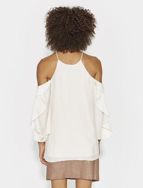 blusa al hombro satin