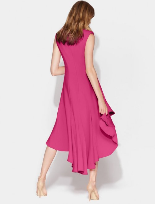 FLOWY HI LO CREPE DRESS