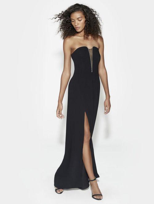 vestido strapless