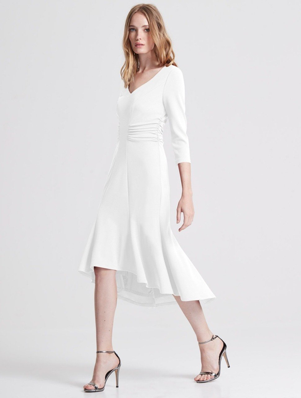 FITTED CREPE KNIT DRESS