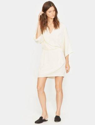Kimono Sleeve Faux Wrap Dress