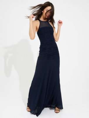 RUCHED GEORGETTE GOWN
