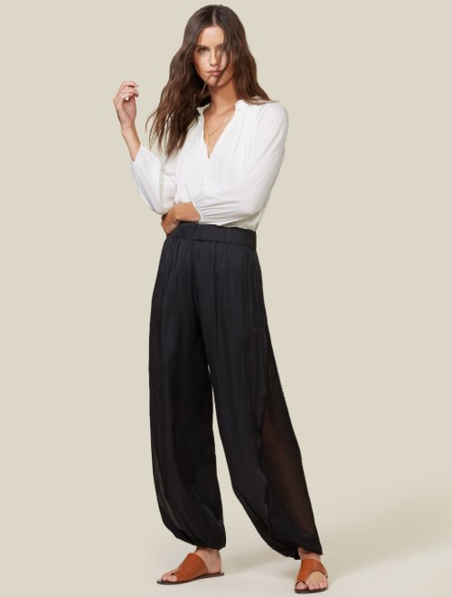 FLOWY SHEER SIDE PANEL PANT