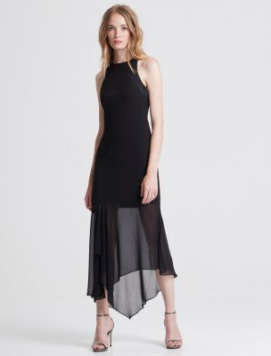 CREPE GEORGETTE MIDI DRESS