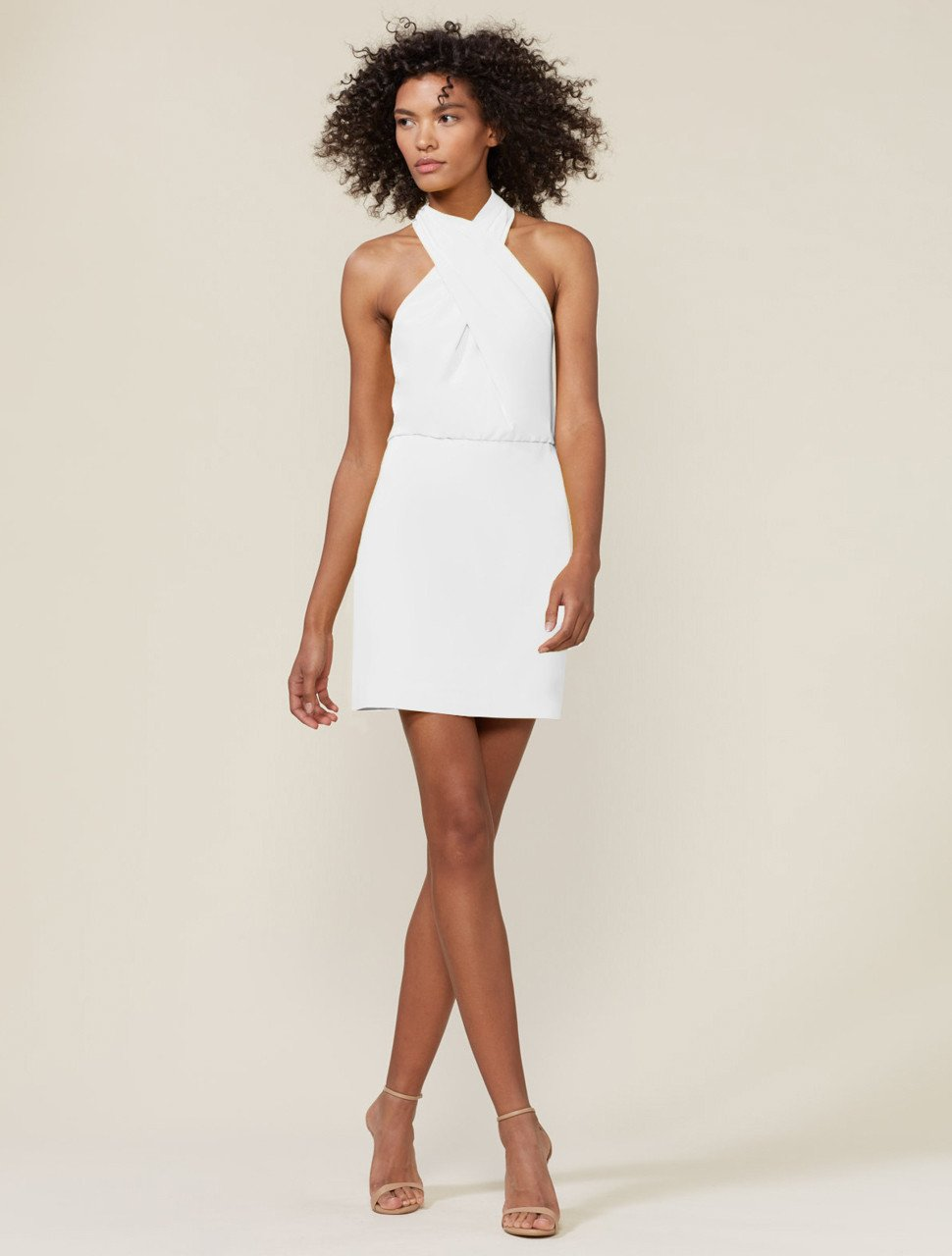 FITTED CROSSNECK DRESS