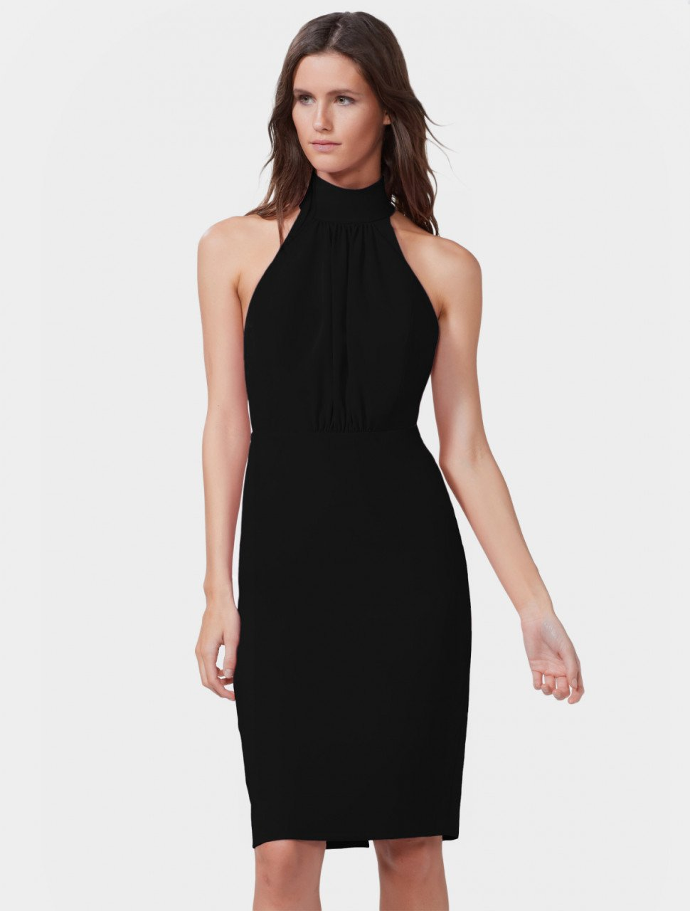 STRIP BACK CREPE DRESS