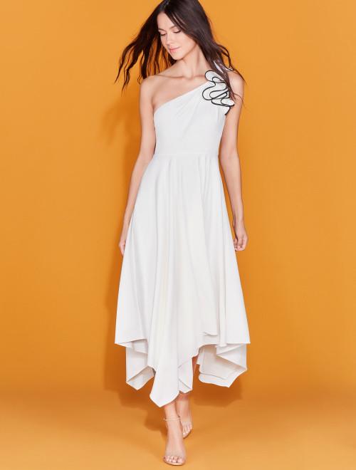 vestido crepe