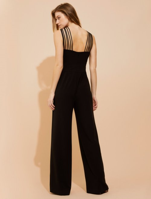 MULTI-STRIP CREPE JUMPSUIT