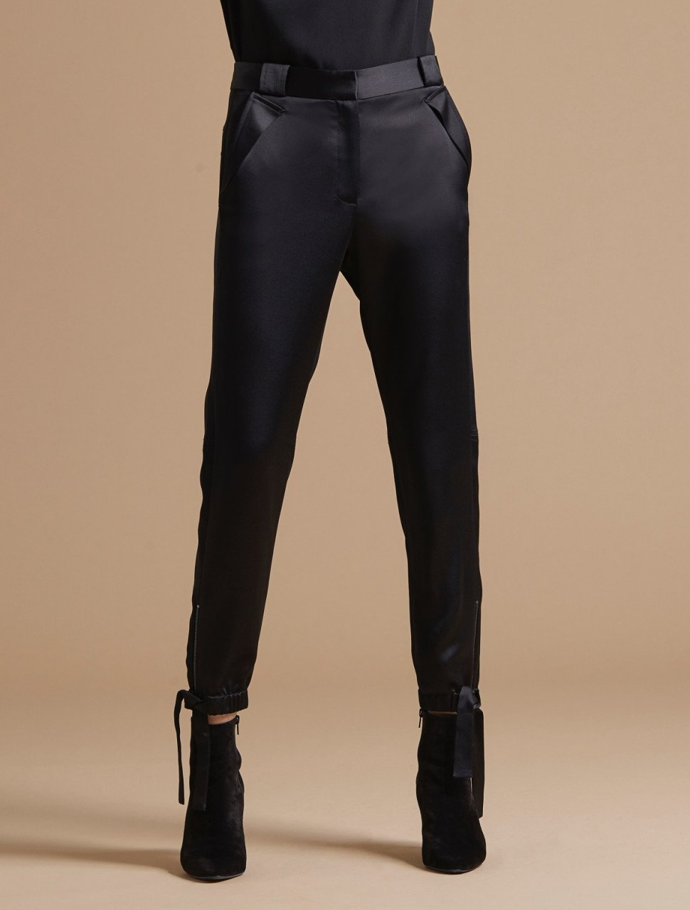 ANKLE TIE SATIN PANT