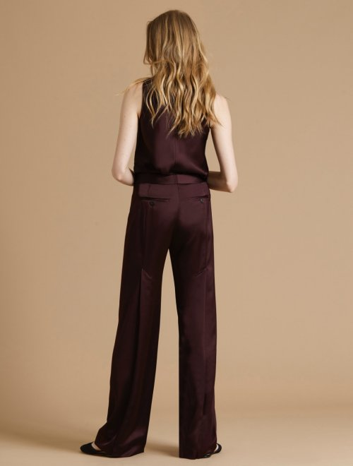 PLEAT DETAIL SATIN PANT