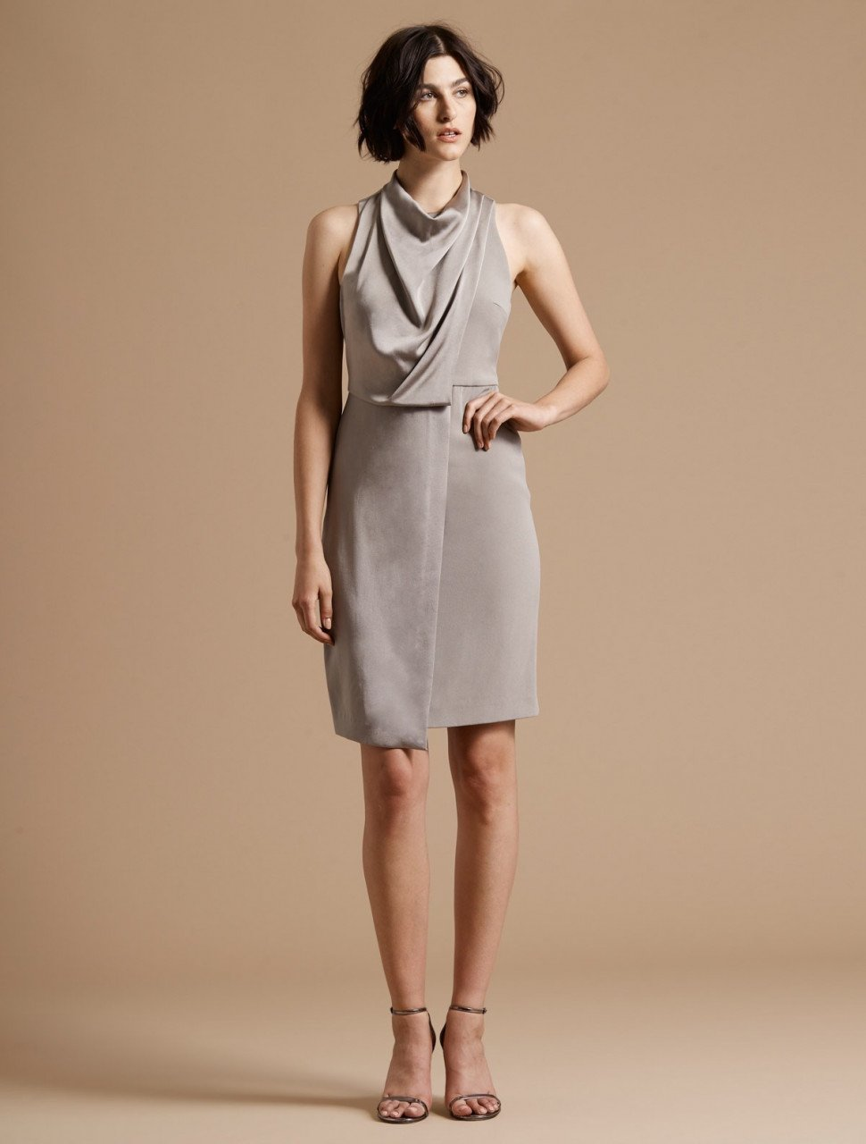 COWL DRAPE DRESS