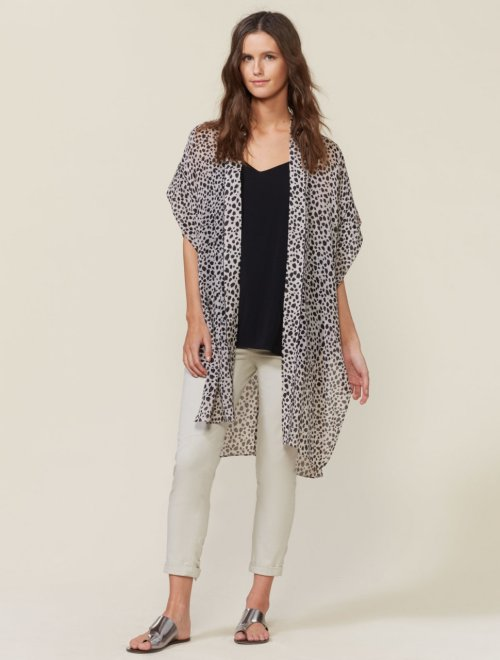 PRINTED KAFTAN JACKET