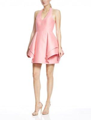 Sleeveless Halter Dramatic Flounce Skirt Dress